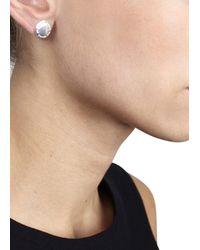 Marc By Marc Jacobs | Metallic Silver Tone Stud Earrings | Lyst
