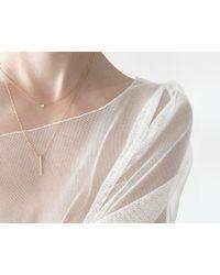 Vrai & Oro   Yellow Diamond Line Necklace   Lyst