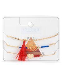 Aéropostale | Metallic Tassel Bracelet 3-pack | Lyst