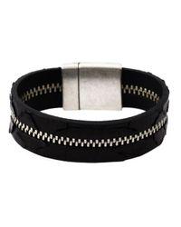 Aech Cheli | Black 'zip' Bracelet | Lyst