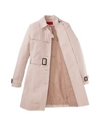 HUGO - Pink Trench Coat: 'mihalas-1' - Lyst