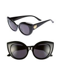 Crap Eyewear - Black 'the Diamond Brunch' 55mm Sunglasses - Jungle Tortoise/ Grey Lenses - Lyst