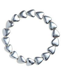 John Lewis | Metallic Silver Heart Stretch Bracelet | Lyst