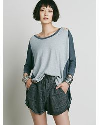 Free People | Gray We The Free Womens We The Free Hoora Tee | Lyst
