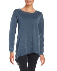 Calvin Klein | Blue Asymmetrical Tunic | Lyst