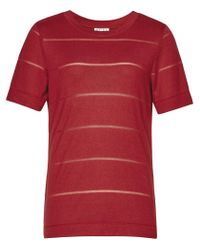 Reiss | Red Cassis Jersey T-shirt | Lyst