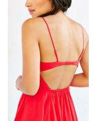 Silence + Noise - Red Noir Strappy-back Mini Dress - Lyst