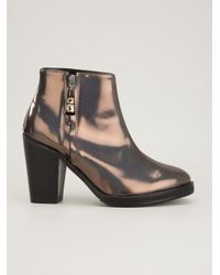 Markus Lupfer - Brown Chunky Heel Ankle Boot - Lyst
