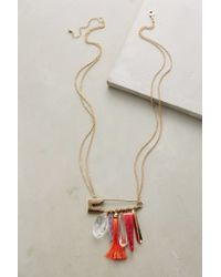 Anthropologie | Red Pinned Pendant Necklace | Lyst