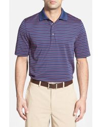 Bobby Jones - Blue 'Xh20 Pencil Stripe' Regular Fit Four-Way Stretch Golf Polo for Men - Lyst