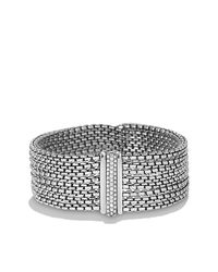 David Yurman - Metallic Chain Eight-row Bracelet With Diamonds - Lyst
