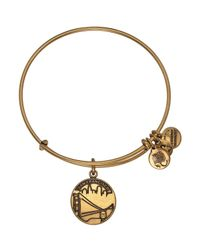 ALEX AND ANI | Metallic San Francisco Ii Expandable Wire Bangle | Lyst