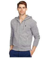 Polo Ralph Lauren | Gray French-rib Full-zip Hoodie for Men | Lyst