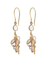 Pippa Small | Metallic Diamond & Yellow-gold Earrings | Lyst