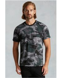 True Religion | Gray Camo Print Back Seam Mens Tee for Men | Lyst