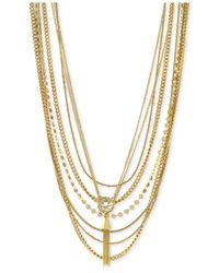 Vince Camuto - Metallic Gold-Tone Layered Tassel Necklace - Lyst