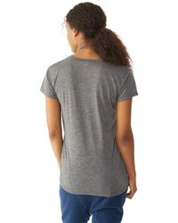Alternative Apparel | Gray Kimber Melange Burnout T-shirt | Lyst