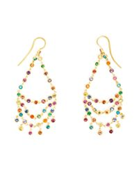 Marie-hélène De Taillac | Metallic 18kt Gold 'rainbow' Chandelier Earrings | Lyst