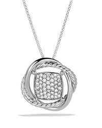 David Yurman - Metallic Infinity Pendant With Diamonds In Gold On Chain - Lyst