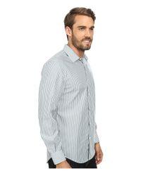 Perry Ellis | Metallic Non-iron Stripe Pattern Shirt for Men | Lyst