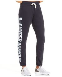 Under Armour | Black Favorite Fleece Sweat Pants | Lyst