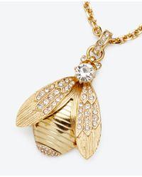 Ann Taylor - Metallic Bumble Bee Pendant - Lyst