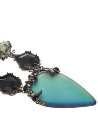 Alexis Bittar | Blue Crystal and Lucite Imperial Bib Necklace | Lyst