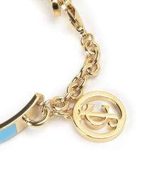 Juicy Couture | Blue Jc Chain Enamel Bangle | Lyst