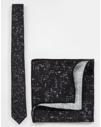 Minimum | Black Tie And Pocket Square for Men | Lyst