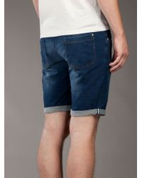 Paolo Pecora | Blue Denim Short for Men | Lyst