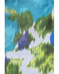 Michael van der Ham - Green Printed Satin-Twill Skirt - Lyst
