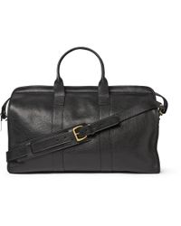 Lotuff Leather - Black Full-Grain Leather Holdall for Men - Lyst