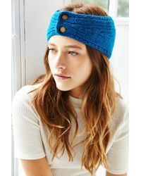 Urban Outfitters | Blue Metal Snap Ear Warmer | Lyst