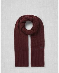 Belstaff - Red Heathleigh Scarf - Lyst