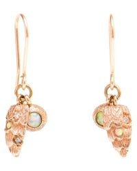 Carolina Bucci - 18k Pink Gold and Diamond Owl Wing Earring - Lyst