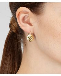 Bottega Veneta - Metallic Oro Giallo Intrecciato Burnished Silver Earring - Lyst