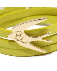 McQ - Yellow Swallow Triple Wrap Bracelet - Lyst