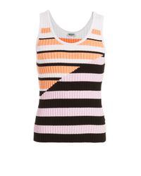 KENZO - Orange Textured Knit Tank - Multicolor for Men - Lyst