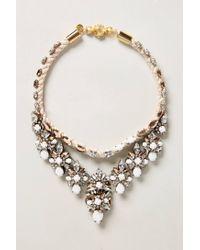Shourouk | Pink Rose Heath Bib Necklace | Lyst