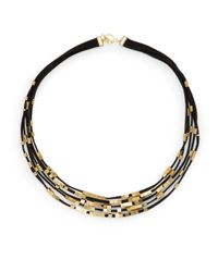Serefina | Black Multi-Strand Abacus Bead Necklace | Lyst