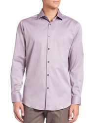 Theory - Purple Slim-fit Dover Cotton Sportshirt for Men - Lyst