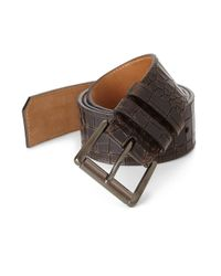 Jimmy Choo | Brown Croc-embossed Leather Belt for Men | Lyst