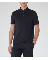 Reiss - Blue Watkins Pocket Polo Shirt for Men - Lyst