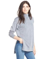 Free People | Blue 'jolene' Cotton Pullover | Lyst