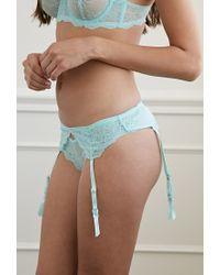 Forever 21 | Green Floral Lace Garter Belt | Lyst