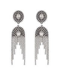 DANNIJO - Metallic Paltrow Crystal Fringe Earrings - Lyst