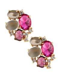 Indulgems | Multicolor Multi-stone Cluster Earrings | Lyst