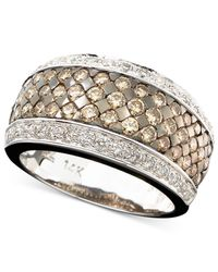 Le Vian | Brown Chocolate And White Diamond Band Ring In 14k Gold Or 14k White Gold (1-5/8 Ct. T.w.) | Lyst