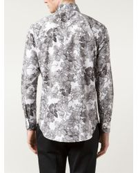 Etro - Gray Floral Print Shirt for Men - Lyst