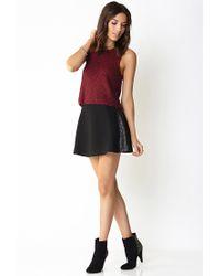 Forever 21 - Black Iconic Touch Skater Skirt - Lyst